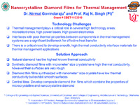 Nanocrystalline Diamond Films for Thermal Management